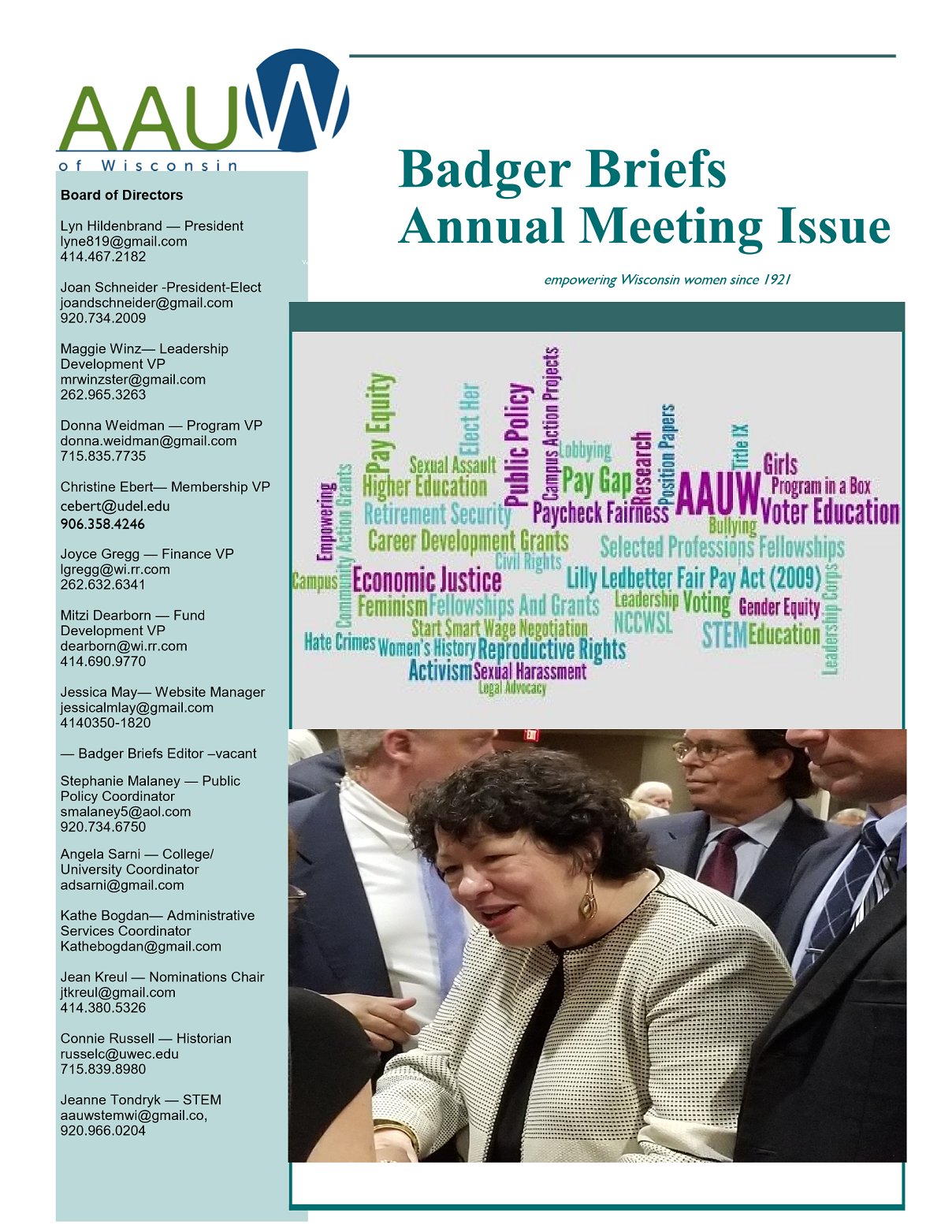 2020 Annual Meeting Issue of Badger Briefs